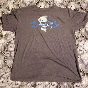 Men's gray salt life T-shirt